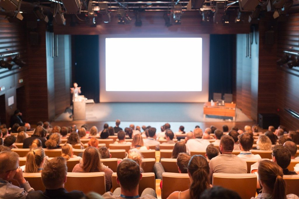 audience inside a conference hall