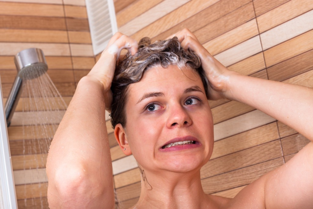 Female in the shower