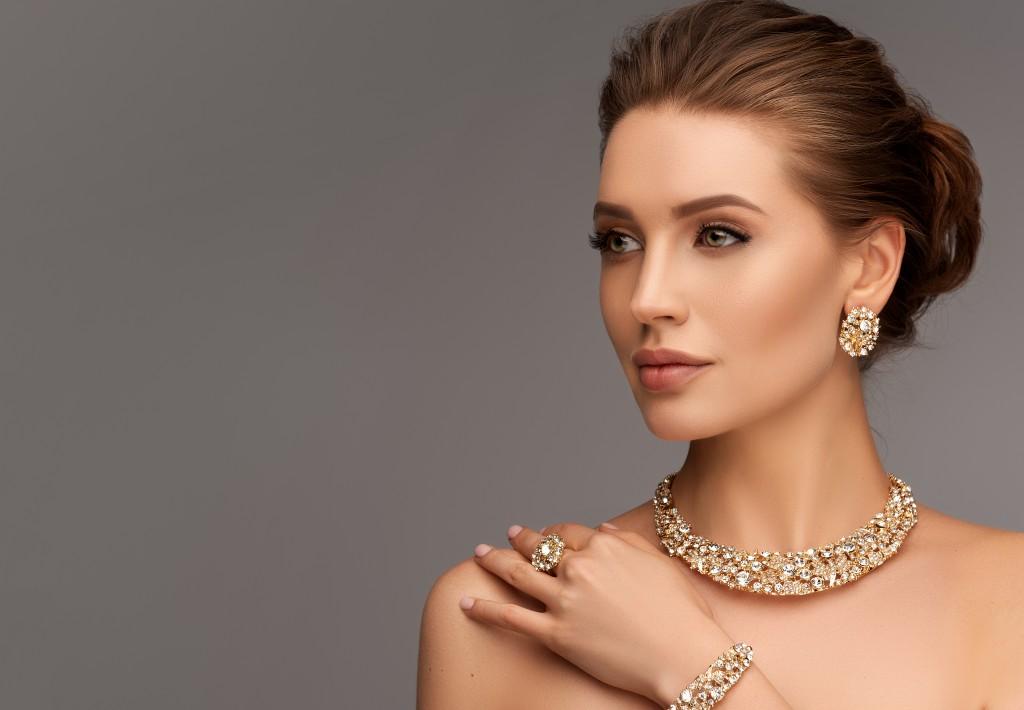 Female wearing jewelry