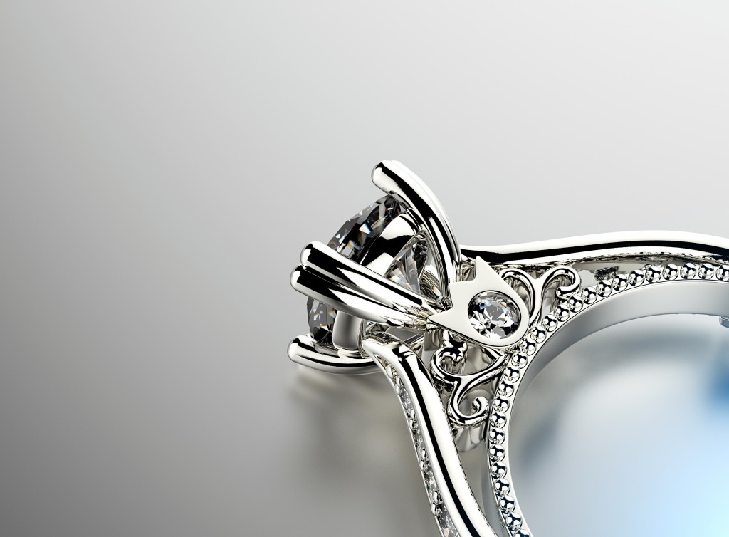 close up of a ring