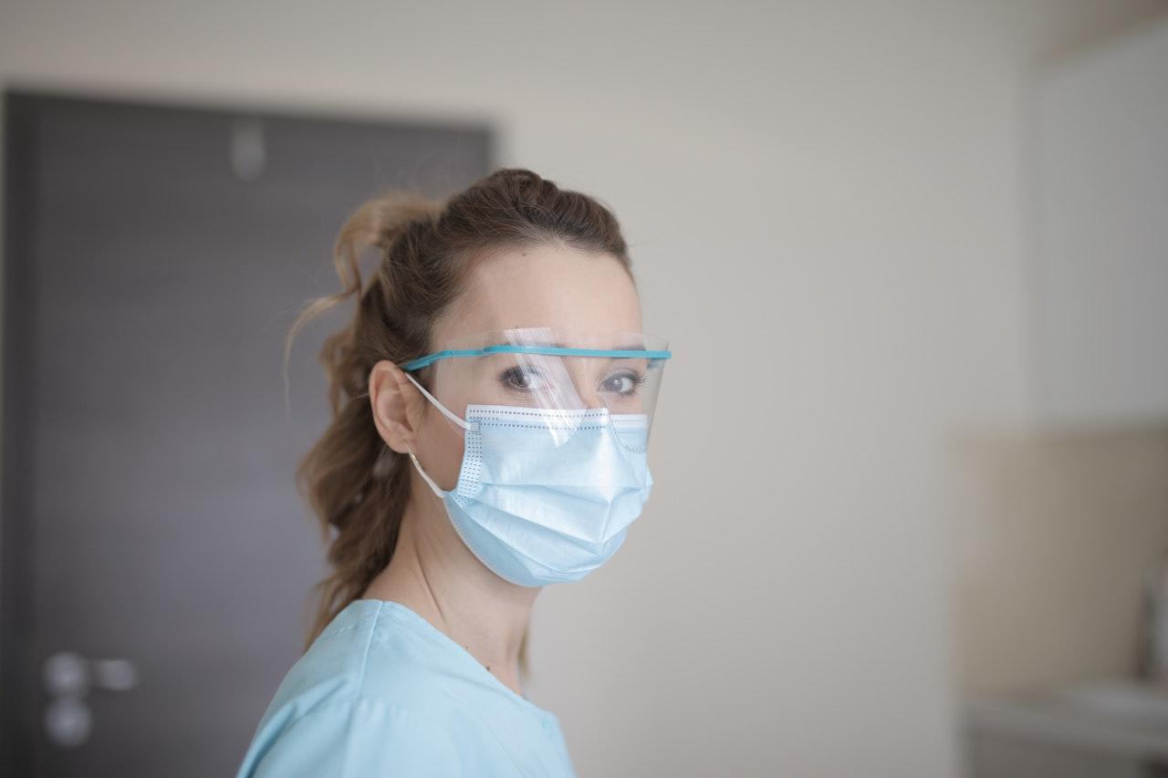 a nurse wearing a mask