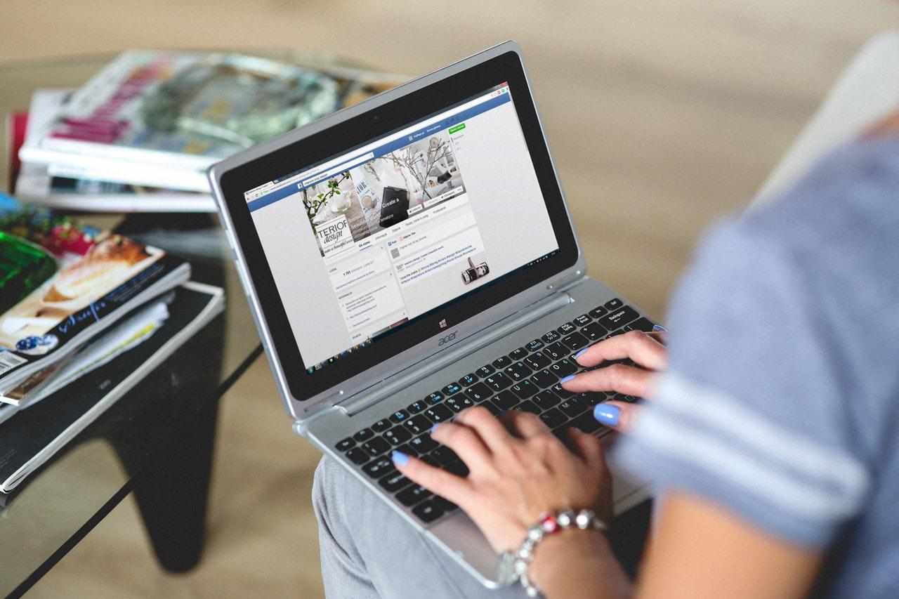 woman browsing social media